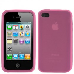 iPhone 4 & 4S Silicone Case (Roze)