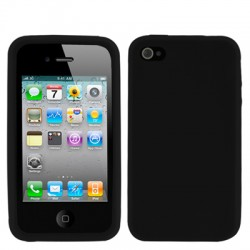 iPhone 4 & 4S Silicone Case (Zwart)