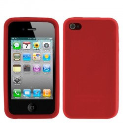 iPhone 4 & 4S Silicone Case (Rood)