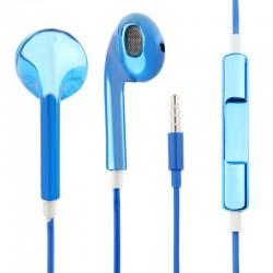 Oordopjes Glanzend met Mic (Blauw)